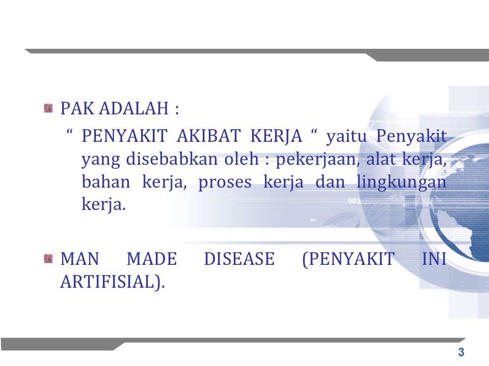 14 HSE Gathering14 Populasi pekerja Indonesia: BPS (2000): –Jumlah pekerja 95 juta –50% bekerja di sektor pertanian, kehutanan dan perikanan – sektor pekerjaan yang paling berrisiko –70 – 80% angkatan kerja bergerak di sektor informal