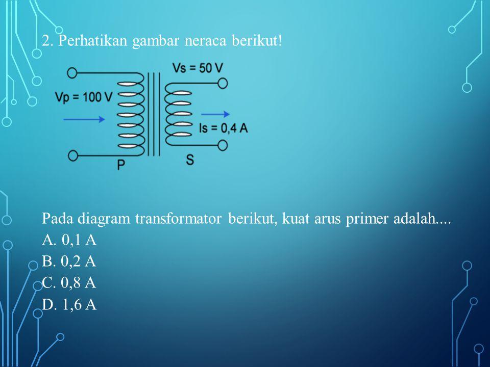 3.Perhatikan bagan transformator berikut.