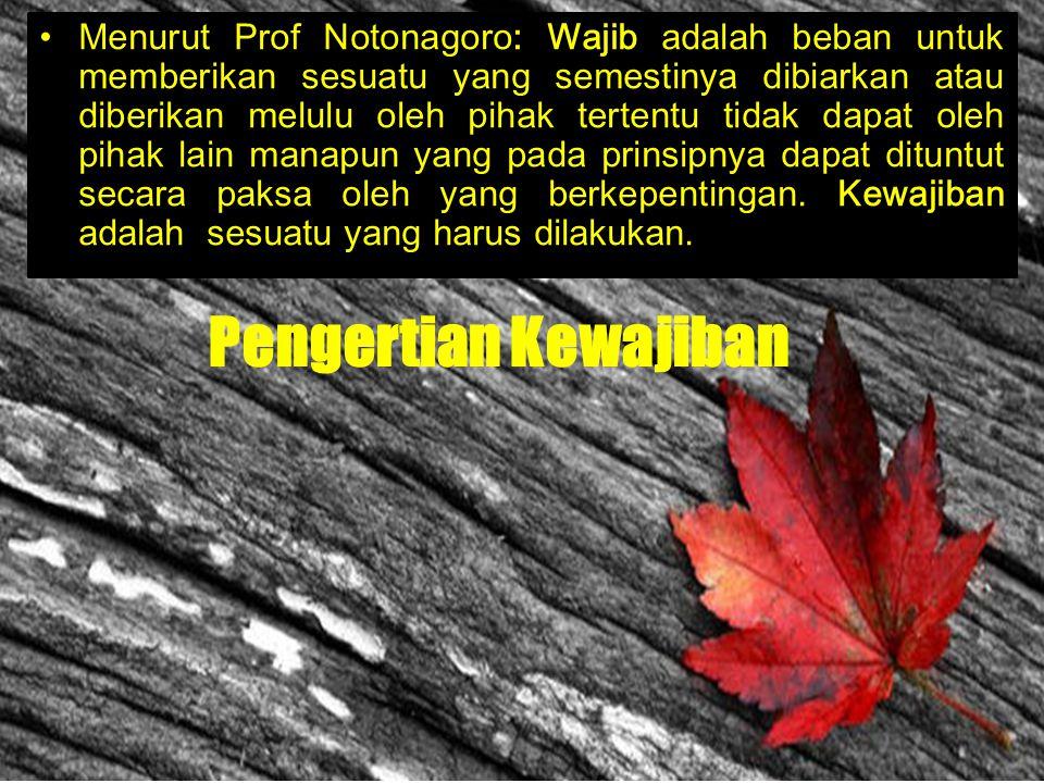 Pengertian Hak Menurut Prof. Dr. Notonagoro: Hak adalah kuasa untuk menerima atau melakukan suatu yang semestinya diterima atau dilakukan melulu oleh