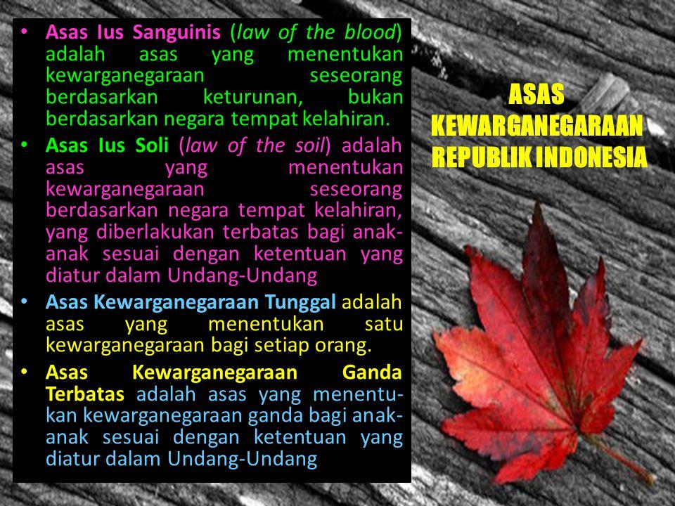 Hak dan Kewajiban dalam UUD 1945 Bab X psl 26, 27, 28, & 30 ttg Warga Negara Pasal 26 ayat 1 yang menjadi warga Negara adalah orang- orang bangsa Indo