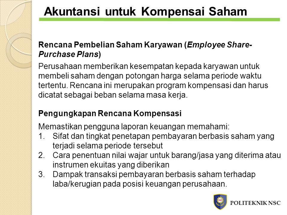Rencana Pembelian Saham Karyawan (Employee Share- Purchase Plans) Perusahaan memberikan kesempatan kepada karyawan untuk membeli saham dengan potongan