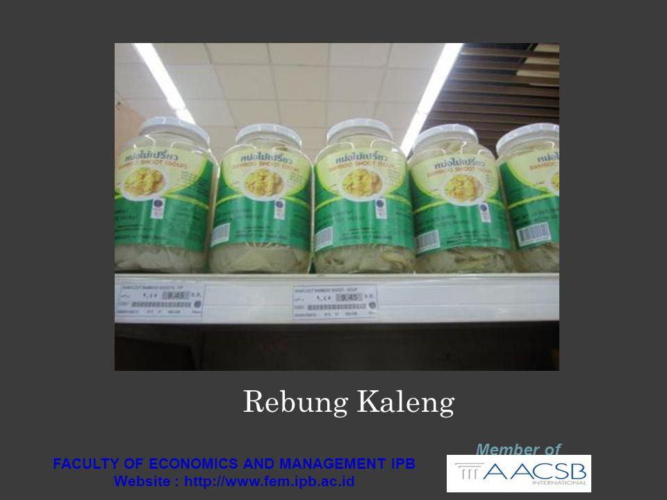 RANKING DAYASAING GLOBAL Member of FACULTY OF ECONOMICS AND MANAGEMENT IPB Website : http://www.fem.ipb.ac.id Negara20122013 Singapore22 Malaysia2524 Thailand3837 Indonesia5038 Philippines6559 Vitenam7570 Kamboja8588 Health and primary education7072 Higher education and training7364 Technological readiness8575 Market size1615 Source: World Economic Forum