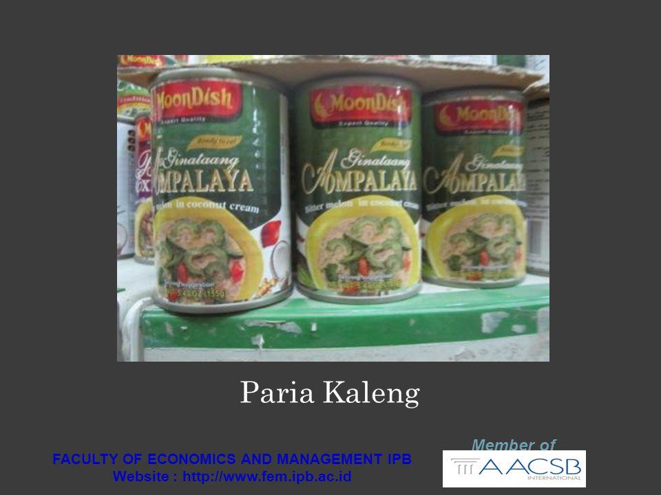 Member of FACULTY OF ECONOMICS AND MANAGEMENT IPB Website : http://www.fem.ipb.ac.id Kerupuk Indonesia