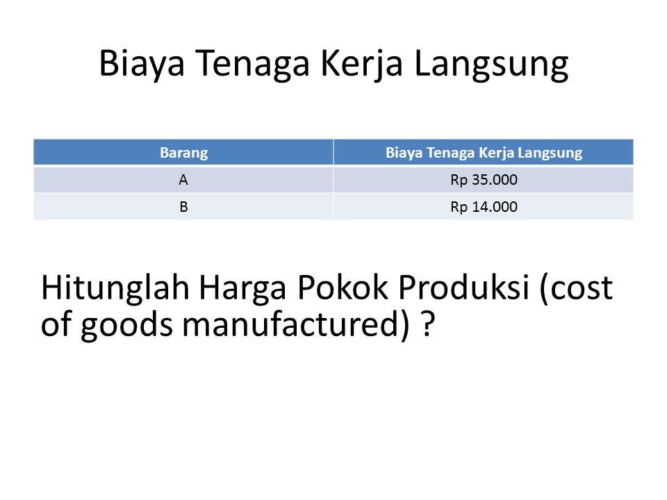Biaya Overhead BagianBiaya Overhead Produksi IRp 26.000 Produksi IIRp 16.000 ReparasiRp 6.000 Biaya Bahan Mentah BarangBiaya Bahan Mentah ARp 70.000 BRp 60.000