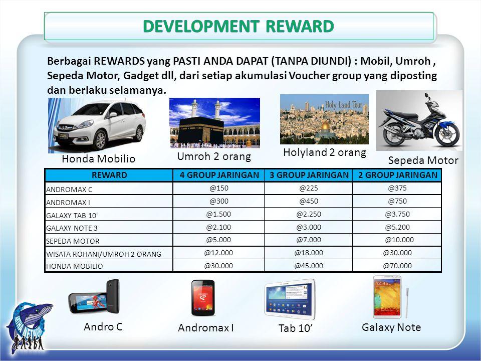Sepeda Motor Galaxy Note Umroh 2 orangHolyland 2 orang Honda Mobilio Berbagai REWARDS yang PASTI ANDA DAPAT (TANPA DIUNDI) : Mobil, Umroh, Sepeda Moto
