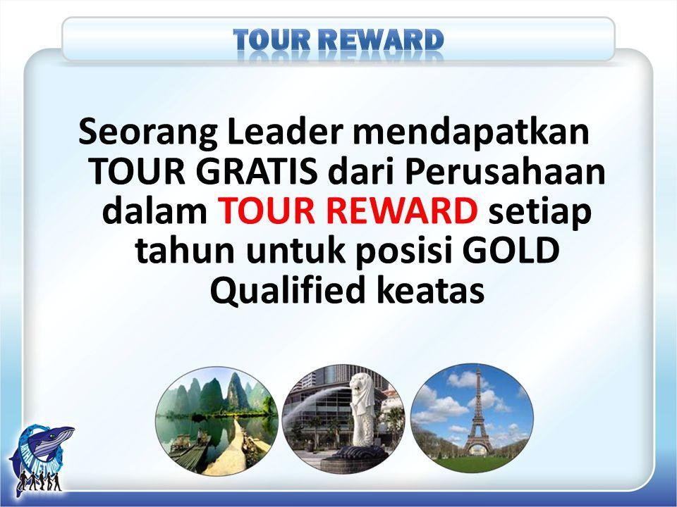Seorang Leader mendapatkan TOUR GRATIS dari Perusahaan dalam TOUR REWARD setiap tahun untuk posisi GOLD Qualified keatas