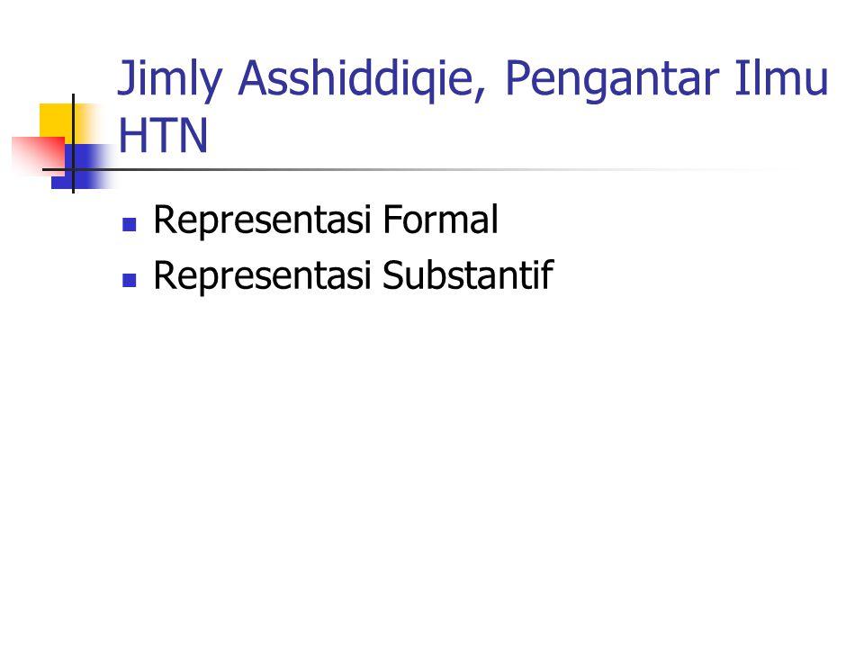 Jimly Asshiddiqie, Pengantar Ilmu HTN Representasi Formal Representasi Substantif