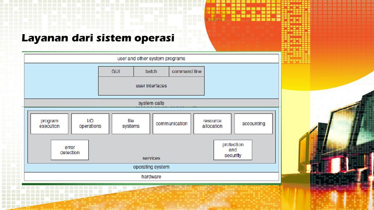 Struktur sistem operasi berlapis Keunggulan –Memiliki semua rancangan modular, yaitu sistem dibagi menjadi beberapa modul dan tiap modul dirancang secara independen.