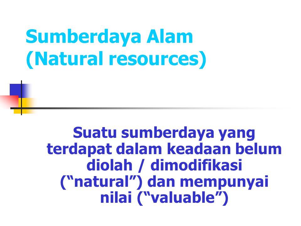 Pengertian Sumberdaya Alam Sumber daya alam adalah semua kekayaan berupa benda mati maupun benda hidup yang berada di bumi dan dapat dimanfaatkan untuk memenuhi kebutuhan hidup manusia.