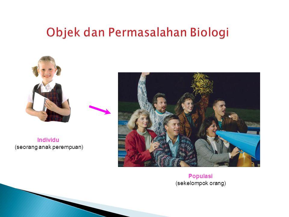 Individu (seorang anak perempuan) Populasi (sekelompok orang)