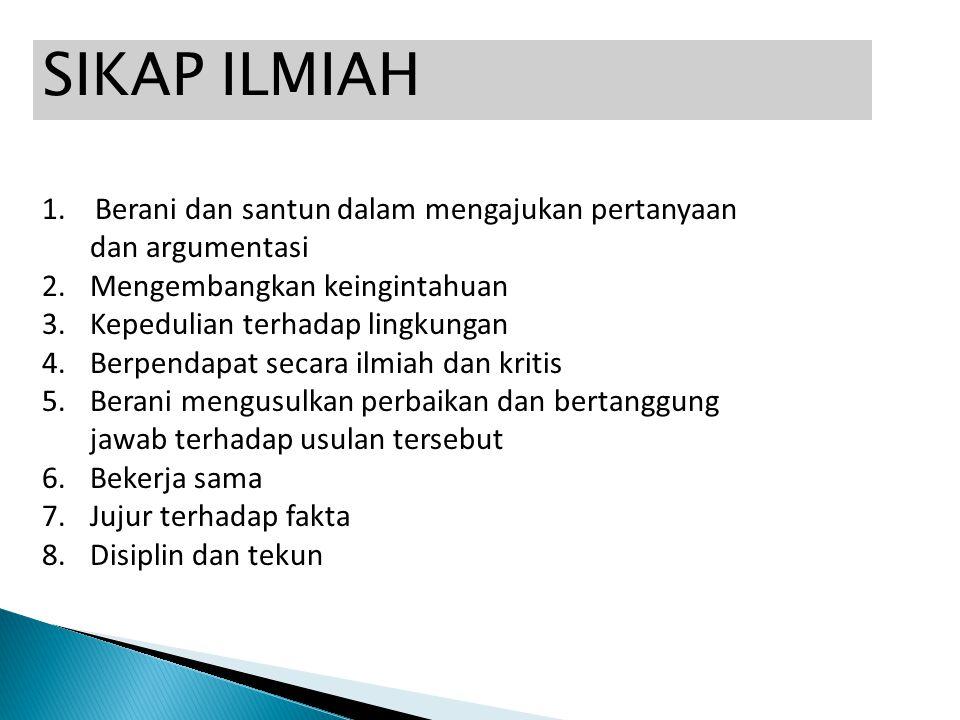 SIKAP ILMIAH 1.