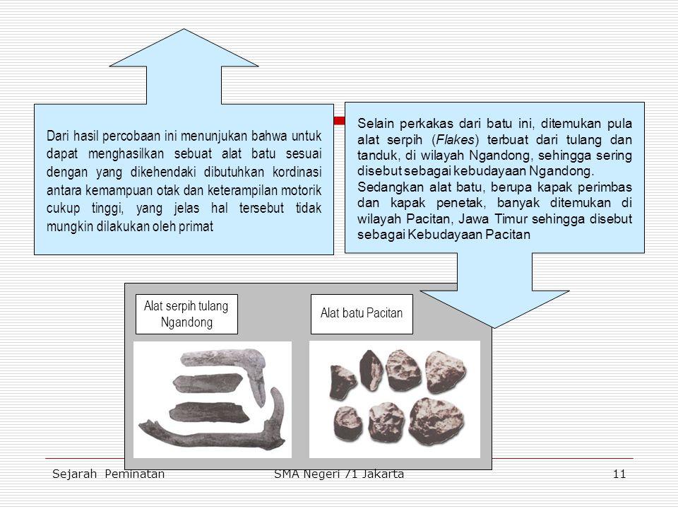 Pada zaman prasejarah ini, sebagaimana telah kita ketahui alat yang dipergunakan oleh manusia purba untuk membantu kehidupannya terbuat dari batu. Ses