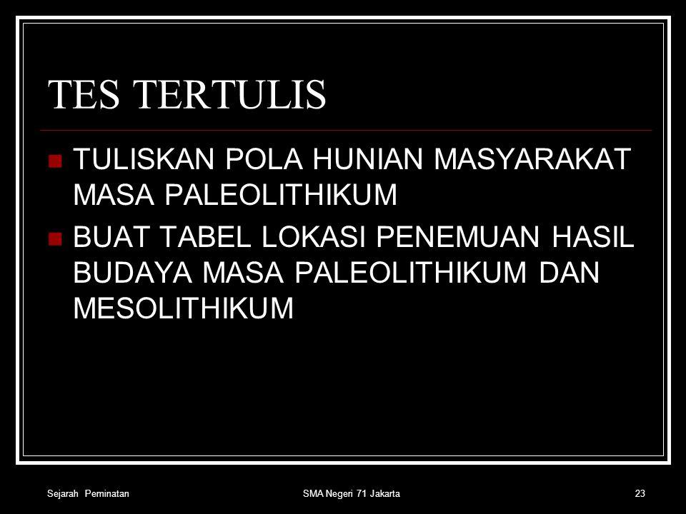 TUGAS SISWA MEMBUAT PETA PENEMUAN MANUSIA PRA AKSARA DI INDONESIA Sejarah Peminatan 22SMA Negeri 71 Jakarta