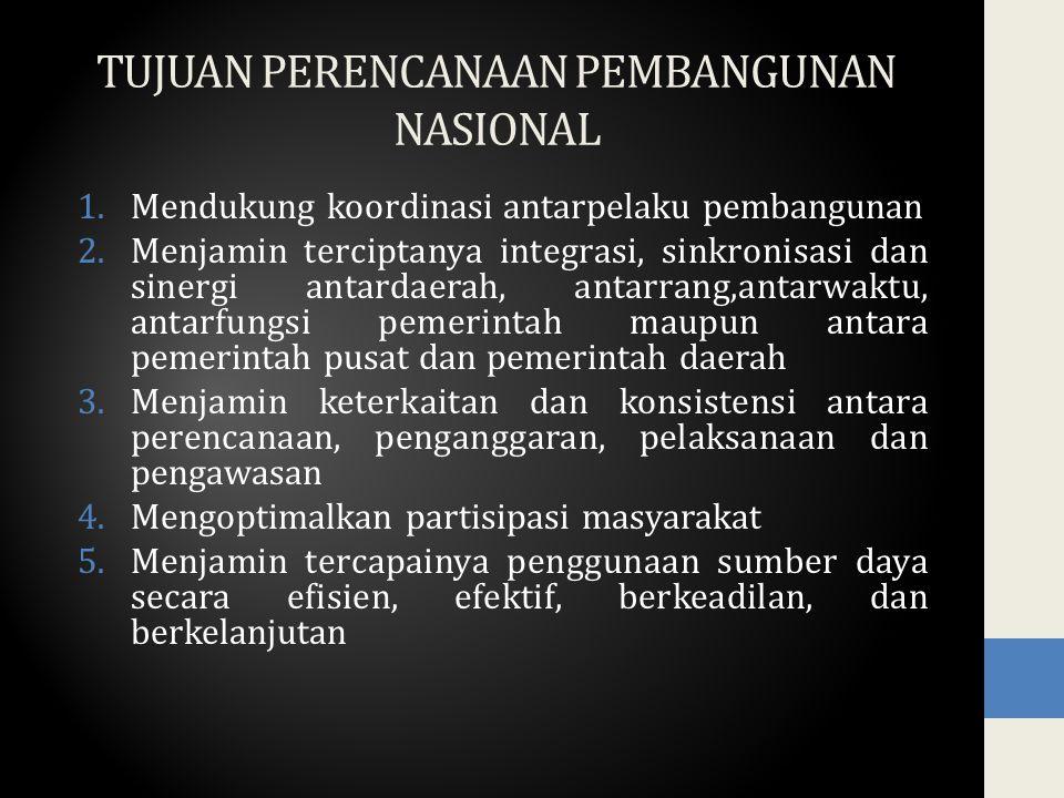 Pendekatan Perencanaan Pembangunan Nasional 1.Politik 2.Teknokratik 3.Partisipatif 4.Atas-bawah 5.Bawah-atas