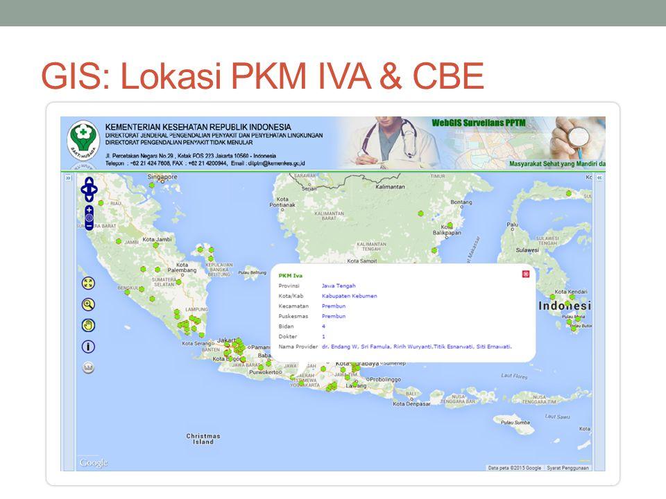 GIS: Lokasi PKM IVA & CBE