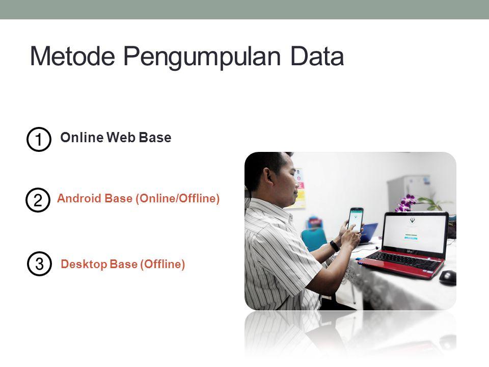 Online Web Base Metode Pengumpulan Data Android Base (Online/Offline) Desktop Base (Offline)