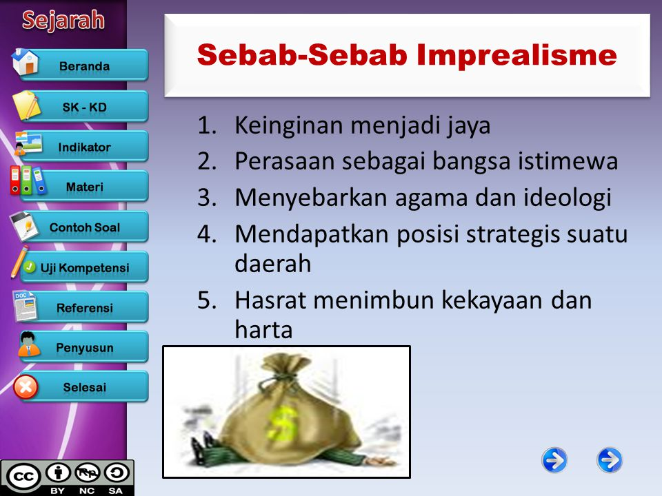 Sebab-Sebab Imprealisme 1.Keinginan menjadi jaya 2.Perasaan sebagai bangsa istimewa 3.Menyebarkan agama dan ideologi 4.Mendapatkan posisi strategis su