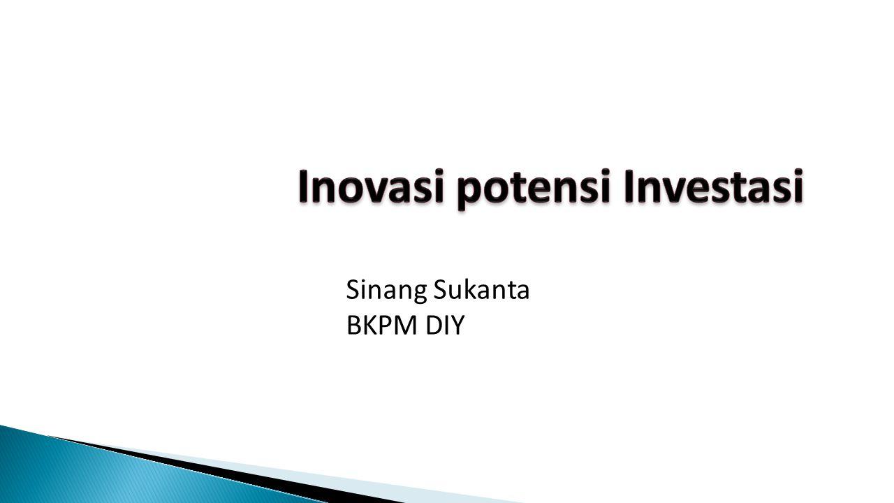 Nilai investasi di DIY pada tahun 2014 mengalami kenaikan sebesar 18,05 % apabila dibandingkan dengan nilai Investasi tahun 2013, dengan nilai pertumbuhan dalam rupiah adalah Rp 1.456.630.000.000,- yang terdiri dari:  PMDN sebesar Rp 3.568.546.291.755,-  PMA sebesar Rp 5.955.853.842.883,-.