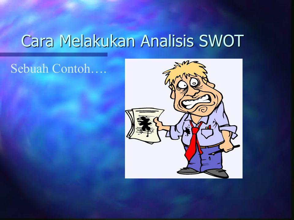 Cara Melakukan Analisis SWOT Sebuah Contoh….