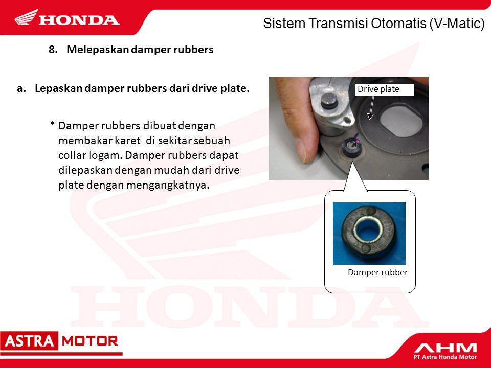 Sistem Transmisi Otomatis (V-Matic) a.Lepaskan damper rubbers dari drive plate.