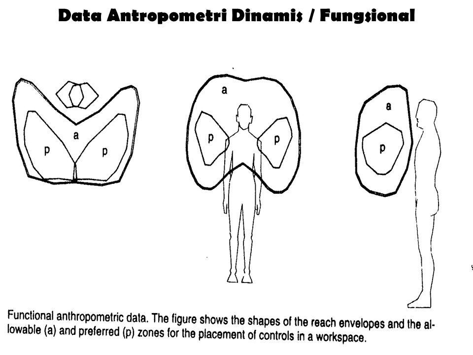 Data Antropometri Dinamis / Fungsional
