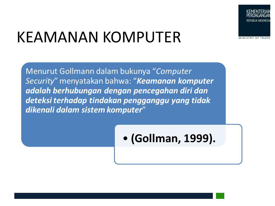 """KEAMANAN KOMPUTER Menurut Gollmann dalam bukunya """"Computer Security"""" menyatakan bahwa: """"Keamanan komputer adalah berhubungan dengan pencegahan diri da"""