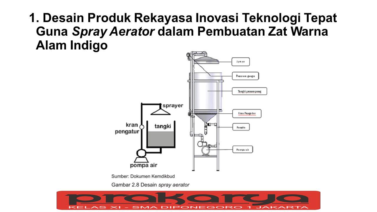 1. Desain Produk Rekayasa Inovasi Teknologi Tepat Guna Spray Aerator dalam Pembuatan Zat Warna Alam Indigo