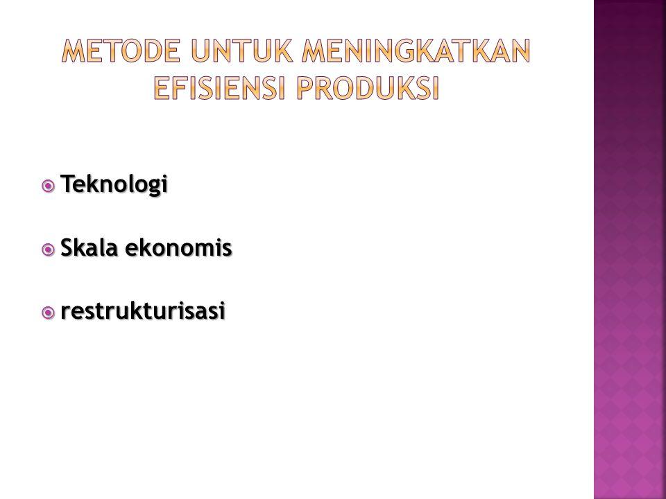  Teknologi  Skala ekonomis  restrukturisasi