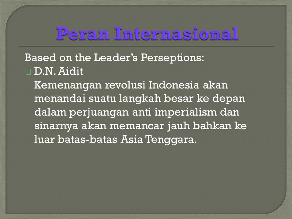 Based on the Leader's Perseptions:  D.N.