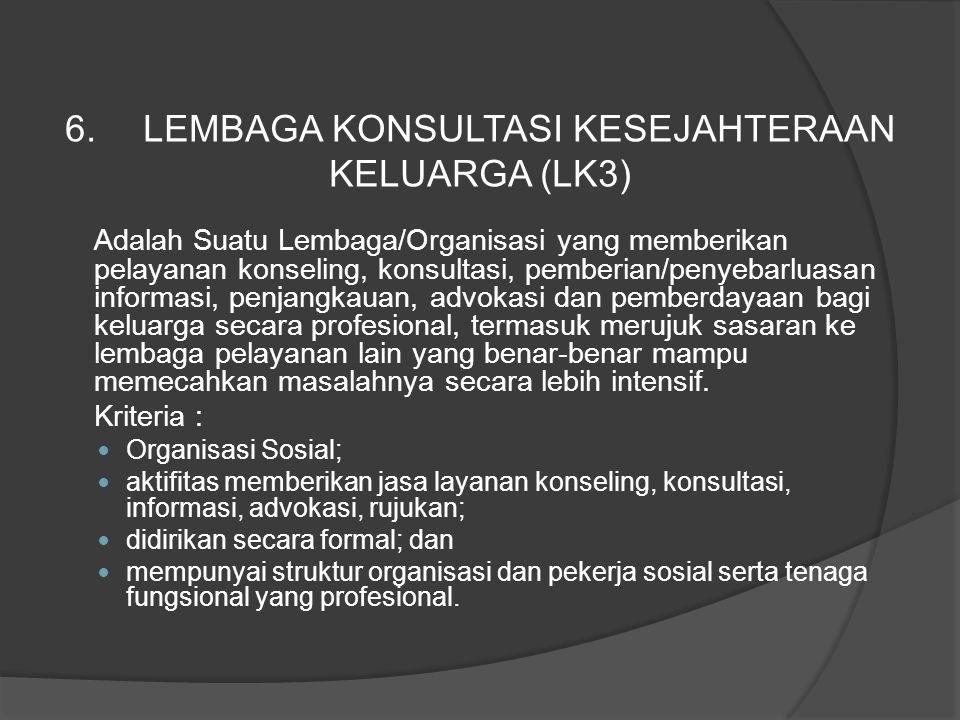 Adalah Suatu Lembaga/Organisasi yang memberikan pelayanan konseling, konsultasi, pemberian/penyebarluasan informasi, penjangkauan, advokasi dan pember