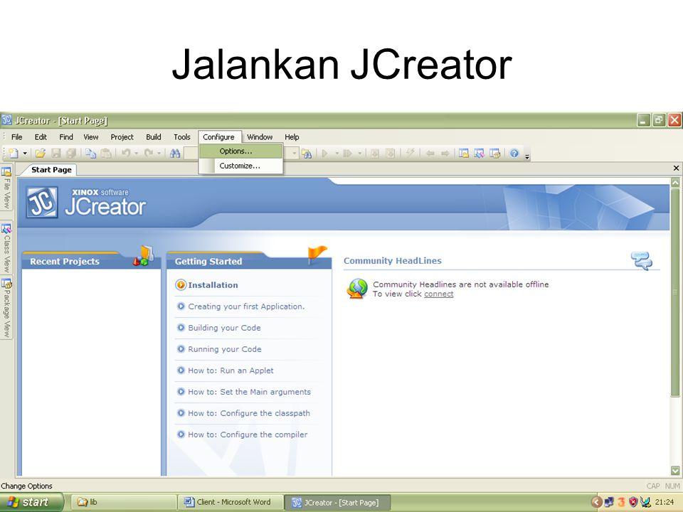 Jalankan JCreator