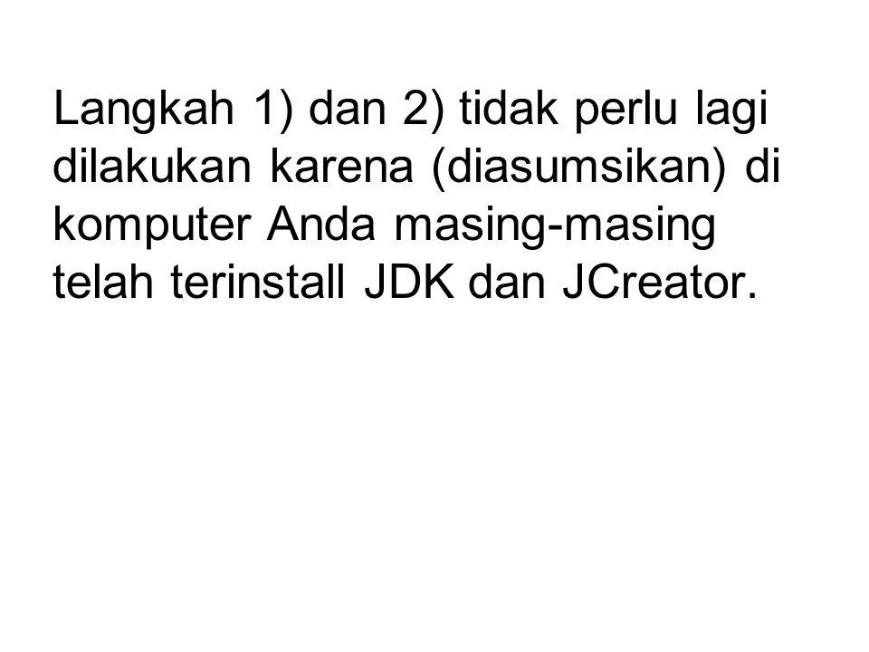 3) Cara menghubungkan Connector/J dengan Jcreator