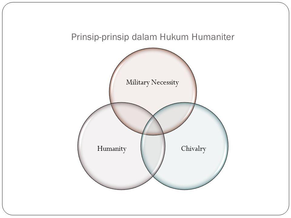 Prinsip-prinsip dalam Hukum Humaniter Military Necessity ChivalryHumanity