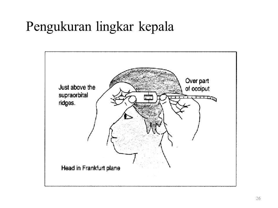 Pengukuran lingkar kepala 26