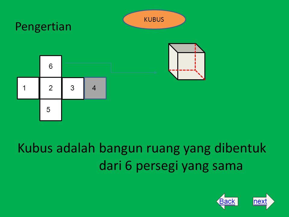 KUBUS Pengertian Kubus adalah bangun ruang yang dibentuk dari 6 persegi yang sama 1625 3 4 nextBack