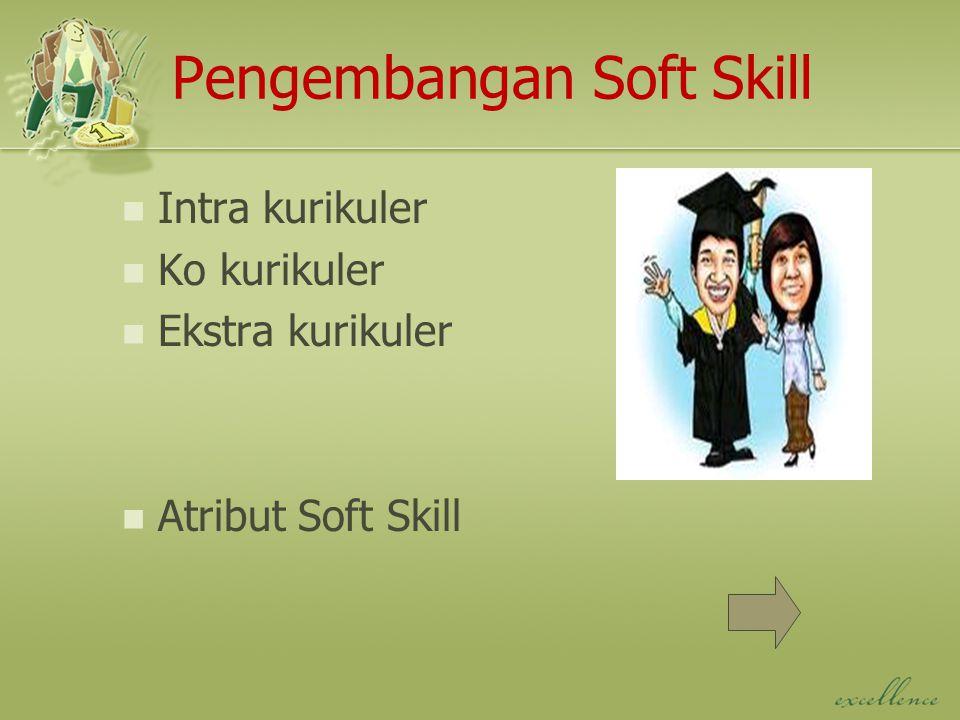 Pengembangan Soft Skill Intra kurikuler Ko kurikuler Ekstra kurikuler Atribut Soft Skill