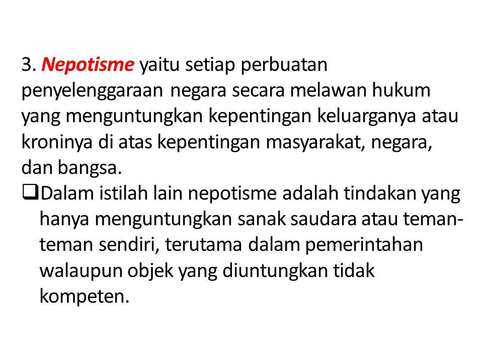 Contoh kasus perilaku korupsi curang: a.