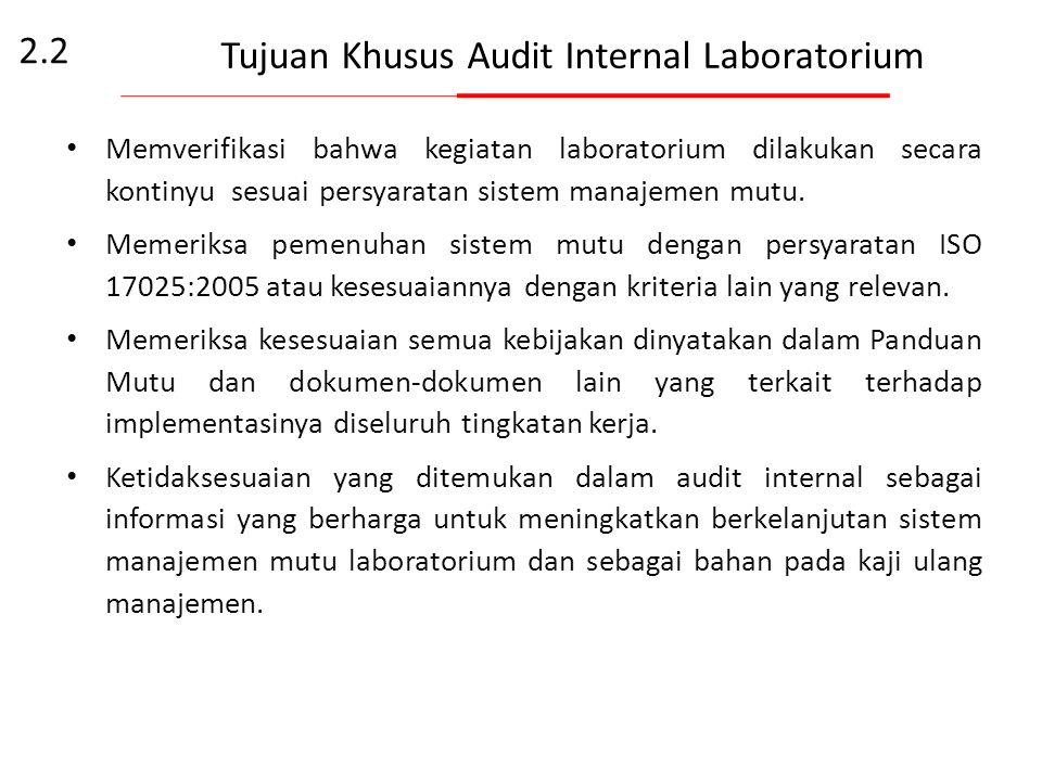 Tujuan Khusus Audit Internal Tujuan Khusus Audit Internal ditetapkan dengan mempertimbangkan mengenai: prioritas manajemen, tujuan komersial, persyara