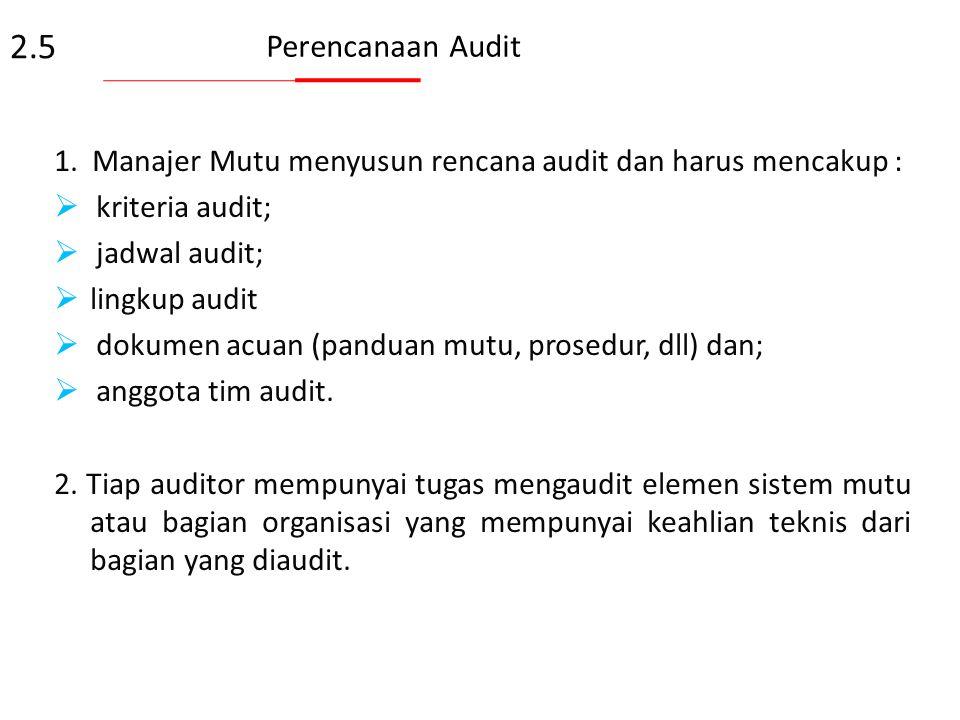 4.Manajer Mutu dapat mendelegasikan tugas pelaksanaan audit kepada personil yang familier dengan sistem mutu laboratorium dan persyaratan akreditasi.