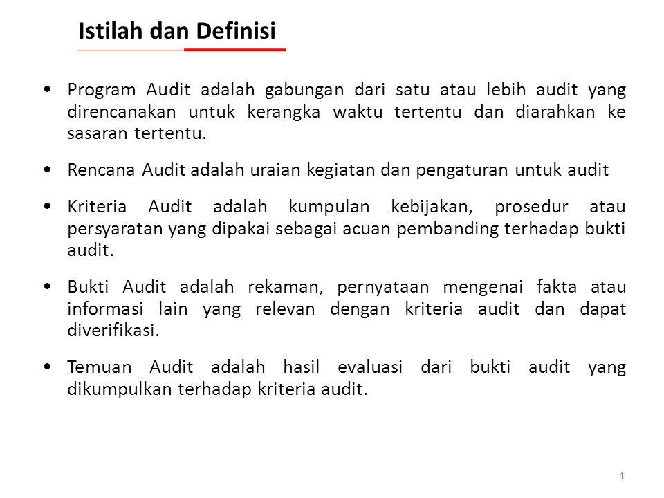 3 Audit adalah proses sistematis, mandiri dan terdokumentasi untuk memperoleh bukti audit dan mengevaluasinya secara objektif untuk menentukan sejauh