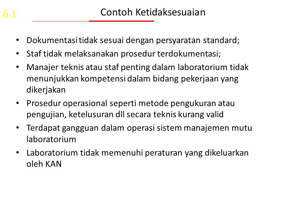Sumber Ketidaksesuaian 1.Hasil audit internal (terjadwal atau tidak terjadwal); 2.Hasil asesmen badan eksternal independen; 3.Customer sebagai persyar