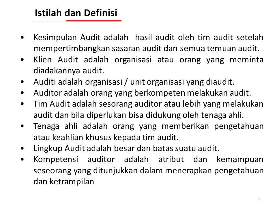 4 Program Audit adalah gabungan dari satu atau lebih audit yang direncanakan untuk kerangka waktu tertentu dan diarahkan ke sasaran tertentu. Rencana