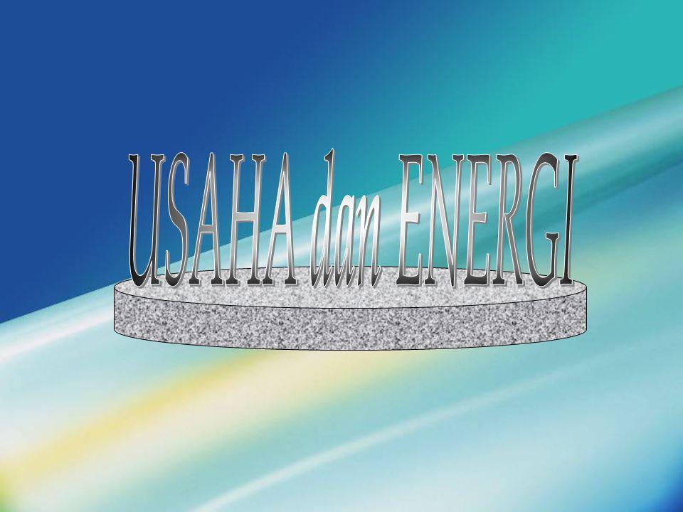 USAHA dilakukan oleh gaya konstan (besar dan arah) hasil kali besarnya perpindahan dengan komponen gaya yang sejajar dengan perpindahan