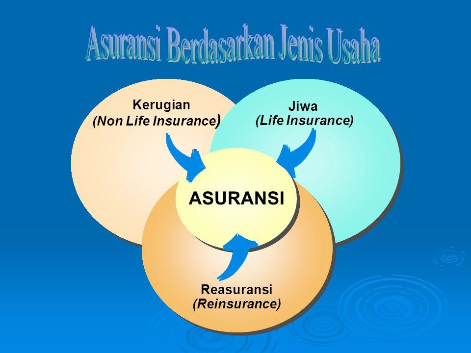 Kerugian (Non Life Insurance ) Kerugian (Non Life Insurance ) Jiwa (Life Insurance) Jiwa (Life Insurance) Reasuransi (Reinsurance) Reasuransi (Reinsur