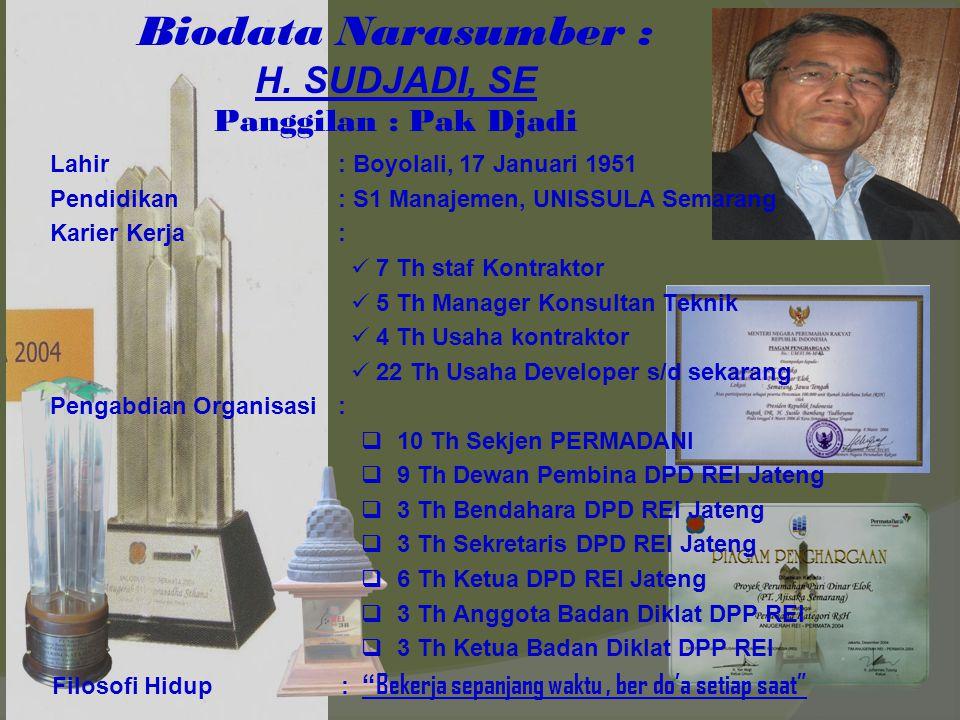 Biodata Narasumber : H.