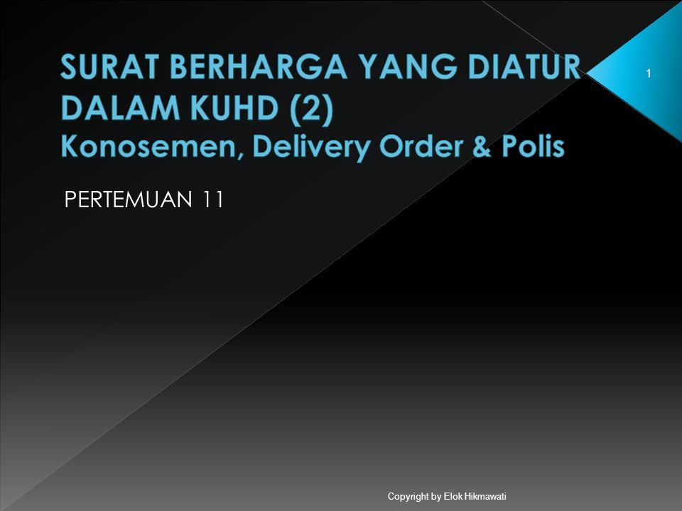 Copyright by Elok Hikmawati 1 PERTEMUAN 11