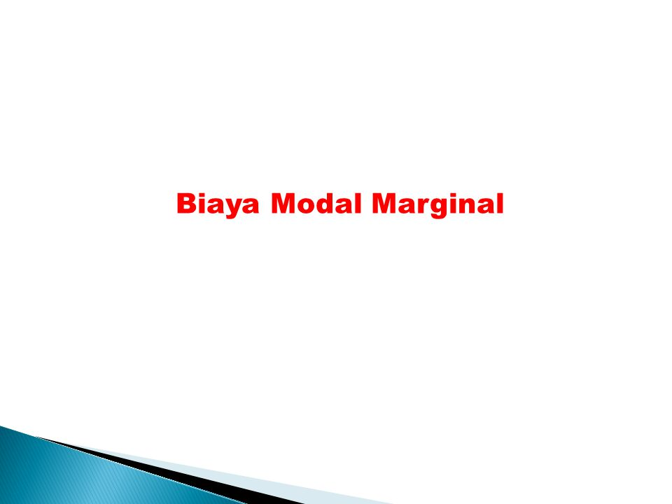 Biaya Modal Marginal