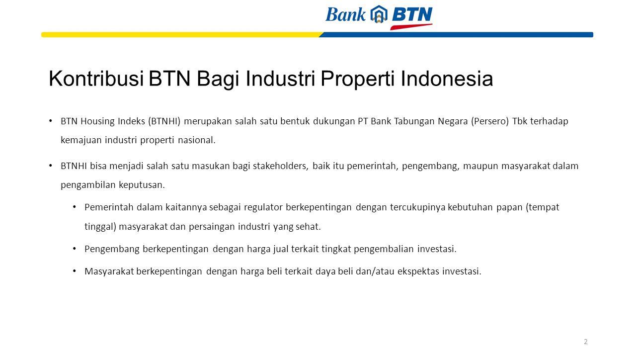 Kontribusi BTN Bagi Industri Properti Indonesia BTN Housing Indeks (BTNHI) merupakan salah satu bentuk dukungan PT Bank Tabungan Negara (Persero) Tbk