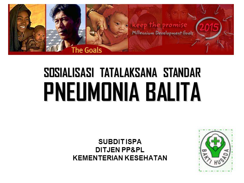 Distribusi mortalitas balita di negara berkembang (WHO)