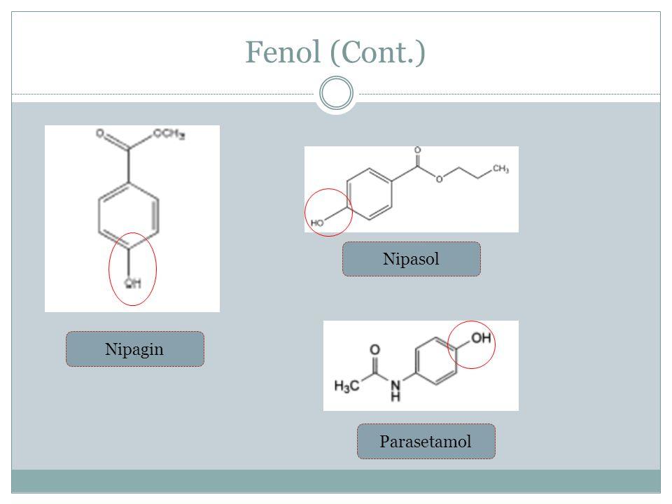 Fenol (Cont.) Nipagin Nipasol Parasetamol